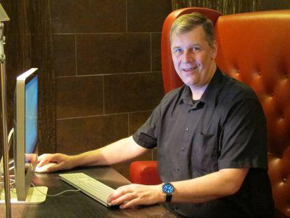 El experto en seguridad informática Righard Zwienenberg, en un hotel en Bratislava.