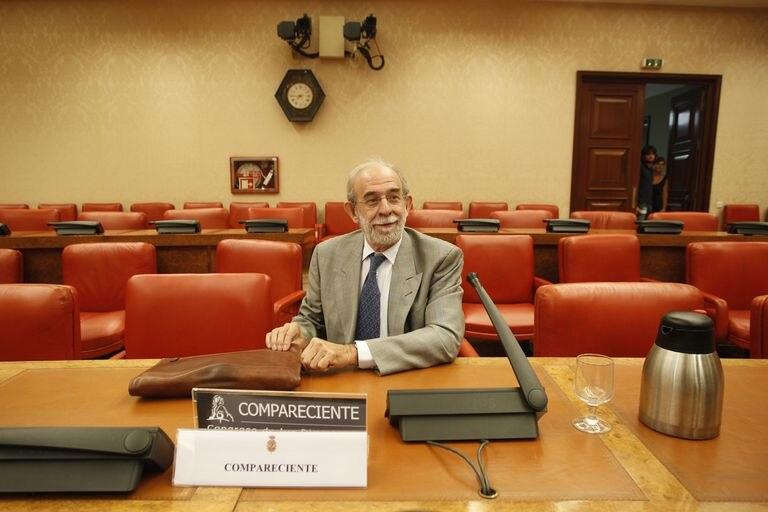 El magistrado del Constitucional Fernando Valdés Dal-Ré, en julio de 2012, en el Congreso de los Diputados.