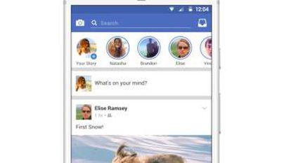 Captura del nuevo Facebook Stories.