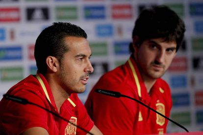 Pedro y San José, en la conferencia de prensa de este sábado.