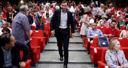 Gómez en una reunión del comité regional de los socialistas madrileños.