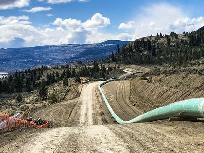 Un tramo del oleoducto de Trans Mountain, en Canadá.