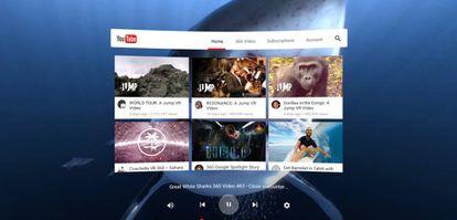 Portada de YouTube para contenido en realidad virtual.