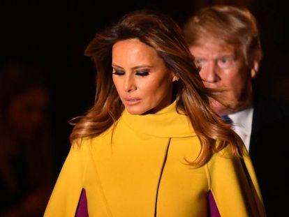 La primera dama estadounidense, Melania Trump, y el presidente Donald Trump.