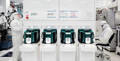 Interior de uno de los laboratorios de la empresa IBM.