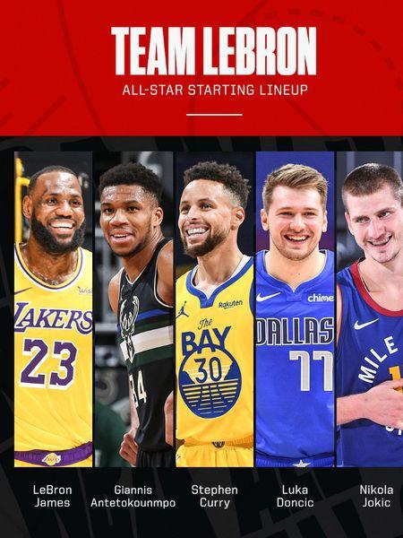 Equipo de LeBron James para el All Star.