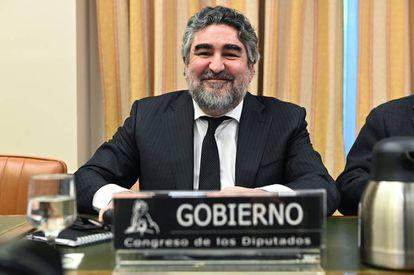 José Manuel Rodríguez Uribes, en la Comisión de Cultura del Congreso de los Diputados.