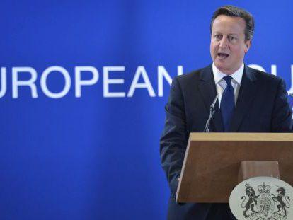 Cameron, en una rueda de prensa tras la cumbre de la UE.