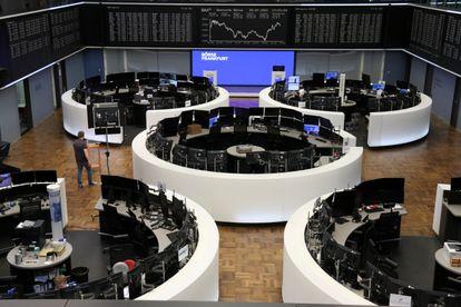 Interior de la Bolsa de Frankfurt (Alemania), este martes.