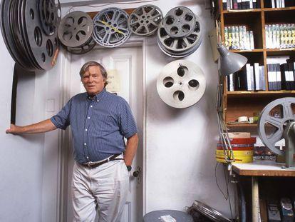 D. A. Pennebaker, en su oficina en Nueva York en verano de 1995.