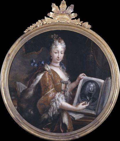 La reina Isabel de Farnesio, pintada por Miguel Jacinto Meléndez (1727).