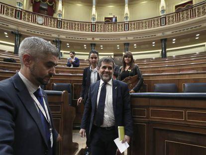 Jordi Sànchez, en el Congreso.