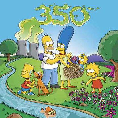 La familia Simpson, en una jornada en el campo.
