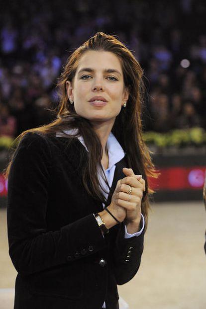 La princesa Carlota Casiraghi, durante un torneo ecuestre en París, el 4 de diciembre de 2011