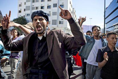 Manifestación islamista en Marruecos.
