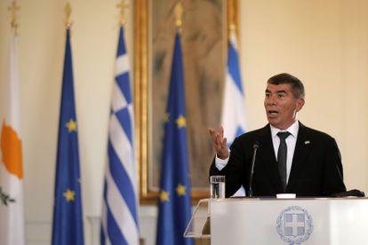 El ministro de Exteriores israelí, Gabi Ashkenazi, en octubre en Atenas.