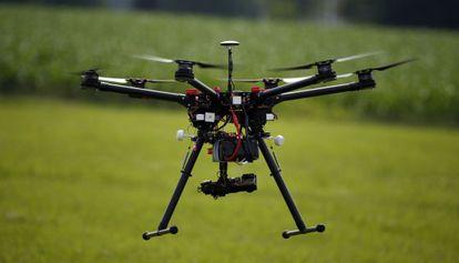 Un dron, durante una exhibición realizada en junio en Cordova (Maryland, EE UU).