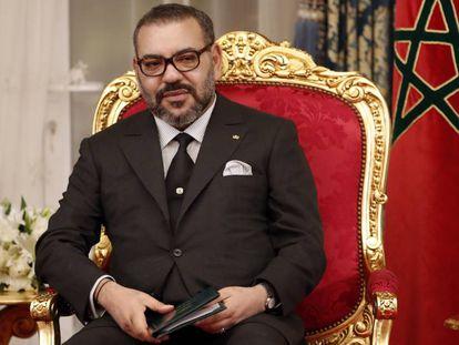 El rey de Marruecos, Mohamed VI, en Rabat, el pasado febrero.