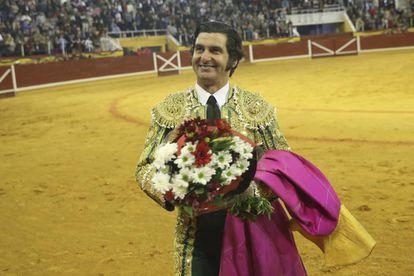 Morante de la Puebla, en la plaza de Illescas (Toledo), el 7 de marzo de 2020.