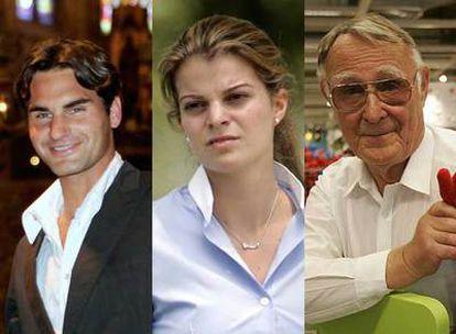 Roger Federer, Athina Onassis y el fundador de Ikea, Ingvar Kamprad, entre las fortunas afectadas por la crisis.