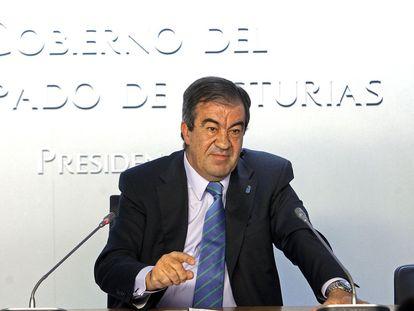 Álvarez-Cascos, en una imagen de archivo cuando era presidente del Principado de Asturias.