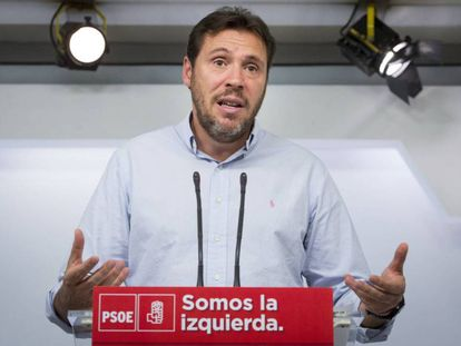 El alcalde de Valladolid y portavoz del PSOE, Óscar Puente.