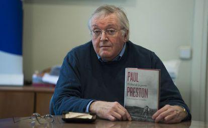 El hispanista inglés Paul Preston, este martes.