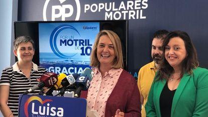 Luisa García Chamorro, en un acto de partido, en mayo de 2019.
