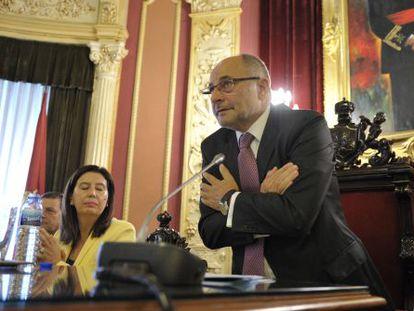 El excalde de Ourense, el día de su dimisión en septiembre de 2012