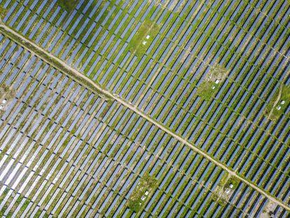 Instalación de energía fotovoltaica en Pekín.
