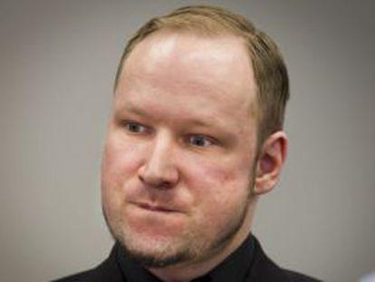 Breivik, en abril de 2012 en el inicio del juicio por el doble atentado.