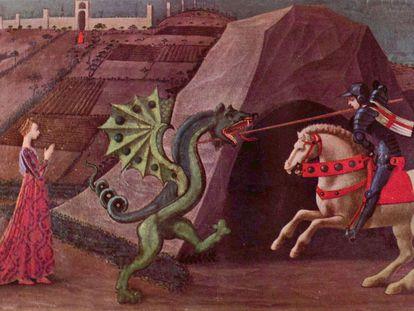 'San Jorge y el dragón' (1470), óleo de Paolo Uccello.