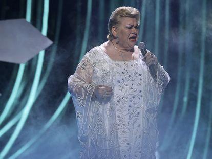 Paquita la del Barrio, durante su actuación en los Premios Billboard en septiembre pasado.
