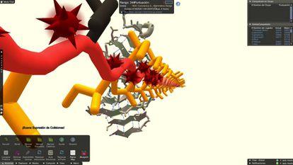 Captura de pantalla del juego online Foldit
