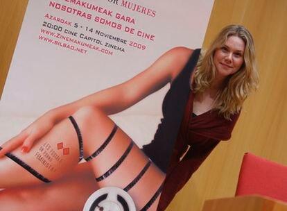 Erika Lust posaba horas antes de dar su conferencia sobre el cine porno en Bilbao.