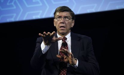 Clayton Christensen, en un evento organizado por Ford en Michigan en 2014.