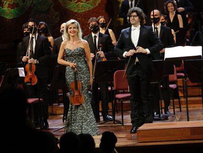 Anne-Sophie Mutter, tras el concierto en el Palau.
