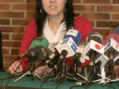 La compañera de De Juana, Irati Aranzabal.