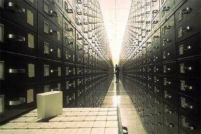 El archivo subterráneo en las montañas de Utah.