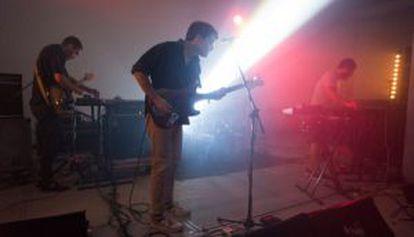 El grupo durante su actuación en México la noche del sábado.