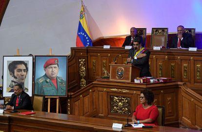 Maduro, durante un discurso en la Asamblea Constituyente, en enero de 2020.