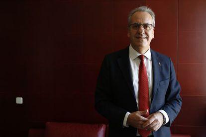 El nuevo presidente de los rectores, Segundo Píriz, el pasado miércoles en la sede de la CRUE.