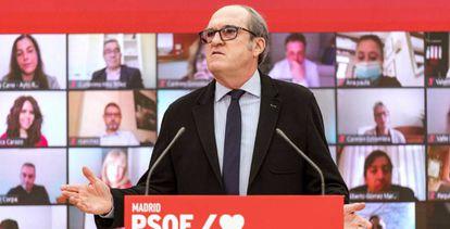 El portavoz socialista en la Asamblea de Madrid y candidato a la Presidencia de la Comunidad, Ángel Gabilondo.