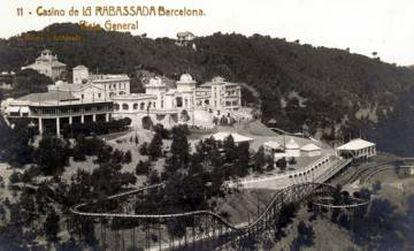 <strong>Un 'Titanic' en tierra.</strong> Aspecto original del Gran Hotel Casino de La Rabassada, en el monte Tibidabo.  