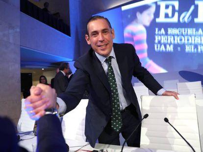 Manuel Mirat, hoy en la Junta General de accionistas del Grupo Prisa.