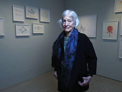 La artista Joan Jonas, en el Museo Thyssen en febrero de 2020.