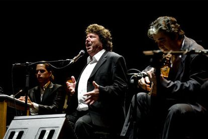 El cantaor Enrique Morente, durante su actuación en la noche del viernes.