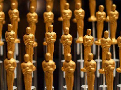 Dulces con forma de estatuilla del Oscar, en una fiesta el pasado 15 de febrero en Hollywood.