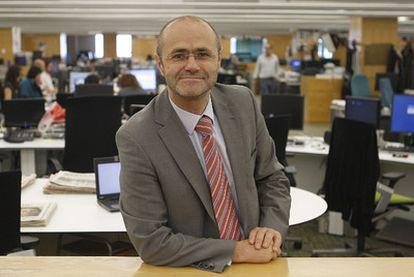 Luis Atienza, ayer en la redacción de EL PAÍS.