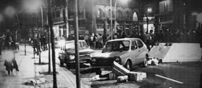 Disturbios en la calle Miracruz de San Sebastián. Imagen del documental '1980'.